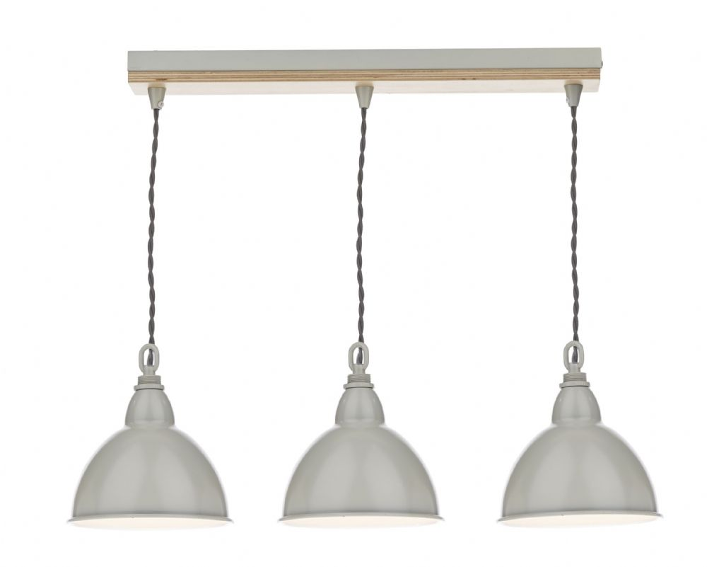 Blyton 3 Light Bar Pendant complete with Painted Shds (Class 2 Double Insulated) BXBLY5343-17